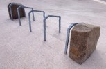 Coastline (bike rack) | Granite, zinc plated steel | 80 x 80 x 300cm. | 2006